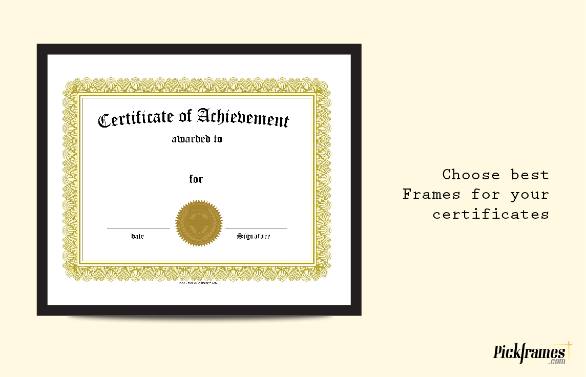 Choose best Frames for your certificates with frames in Dubai