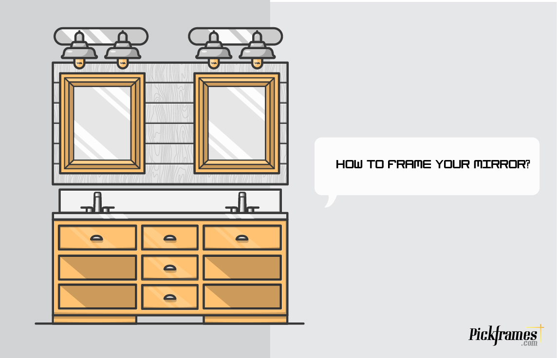 How to frame your mirror with framing Dubai or frames in Dubai and ...