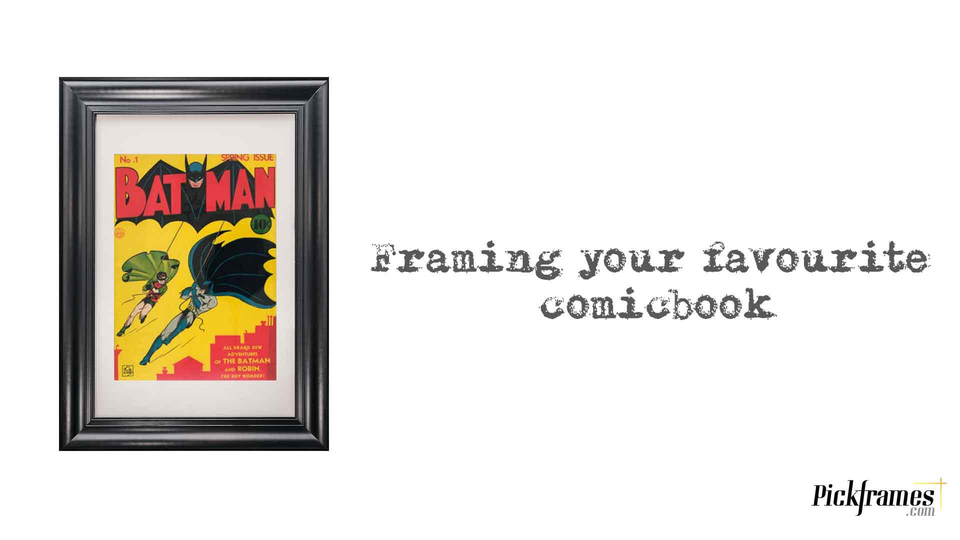 Framing Comic Books with frames in Dubai