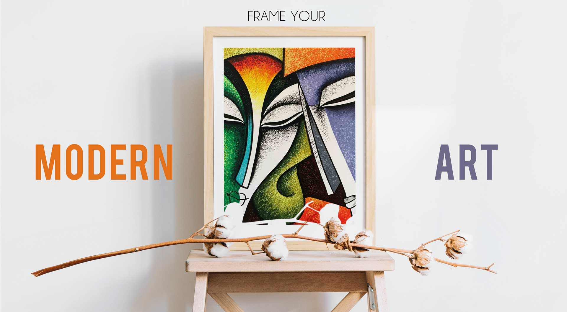 How to select Frames for your modern art? | Frames in Abu Dhabi.