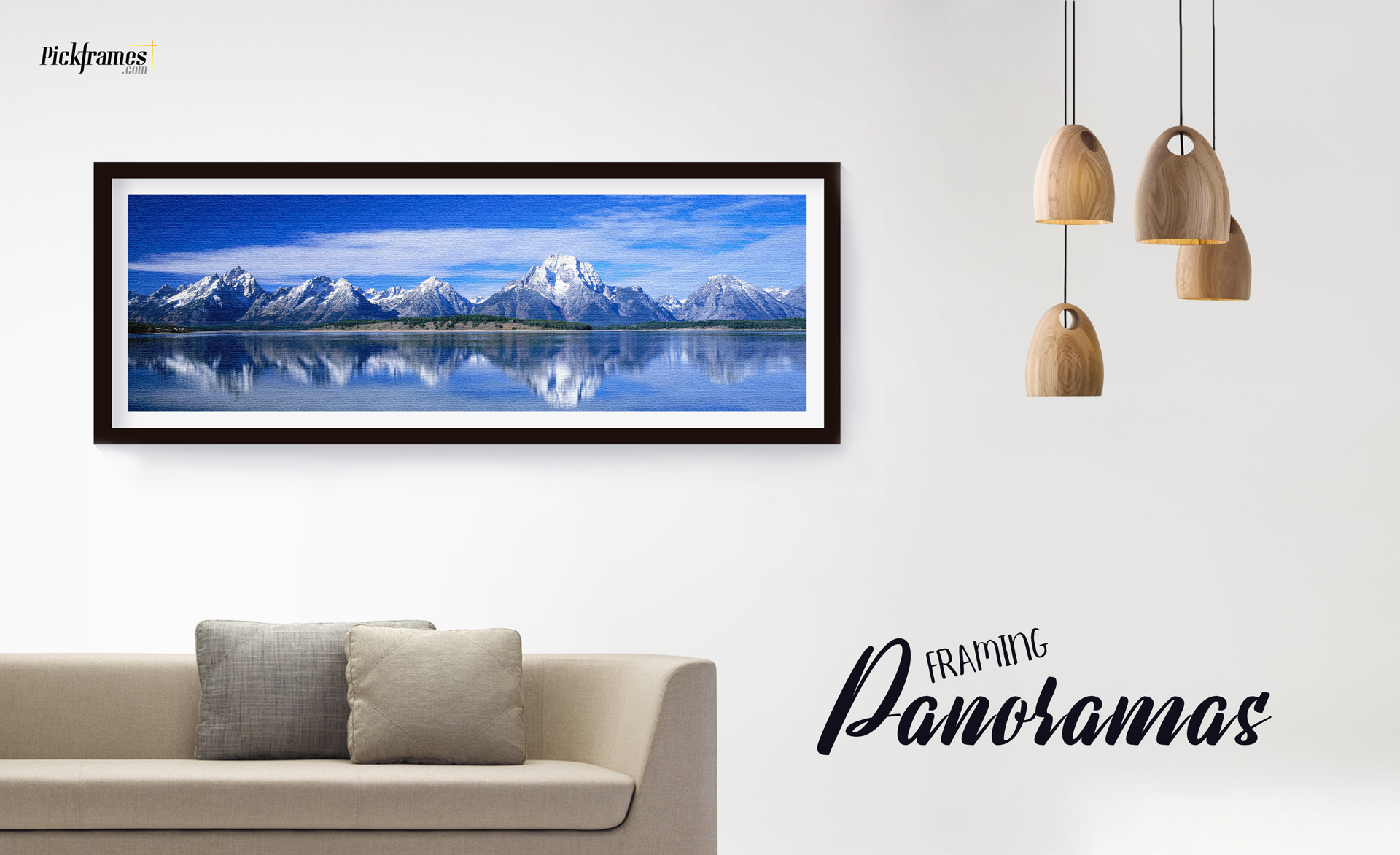 frame panoramic photos with pickframes frames in dubai
